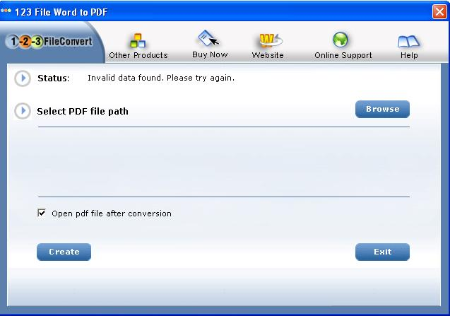 123FileConvert Word To PDF Converter